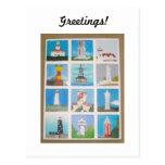 Faros de los saludos en todo el mundo tarjetas postales