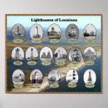 Faros de Luisiana Impresiones