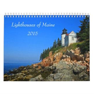 Faros de Maine Calendarios De Pared