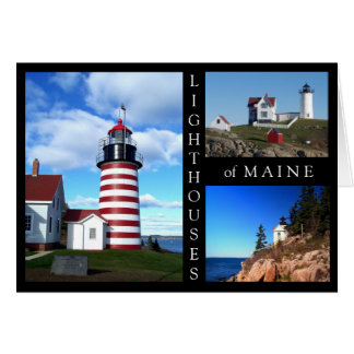 Faros de Maine Tarjeta Pequeña