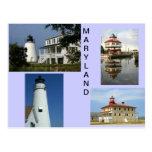 Faros de Maryland Tarjeta Postal