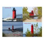 Faros de Michigan Tarjetas Postales