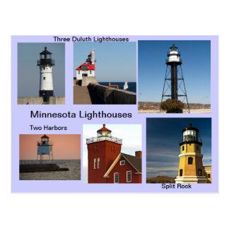 Faros de Minnesota Tarjeta Postal