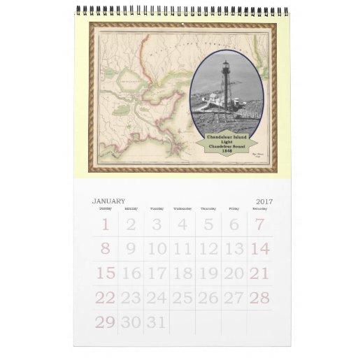 Faros del calendario de Luisiana 2010