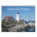 Faros del calendario de Maine 2009