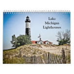 Faros del lago Michigan Calendarios