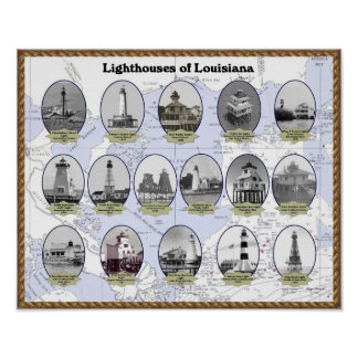 Faros del poster de Luisiana