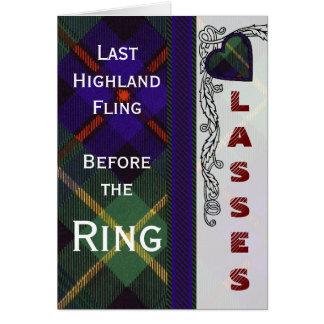 Farquarson Scottish Tartan Card