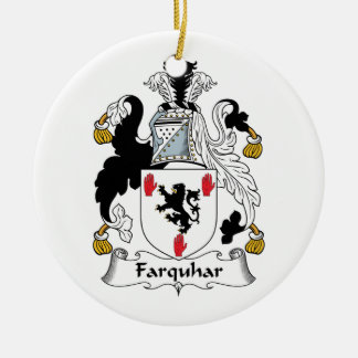 Farquhar Family Crest Ceramic Ornament