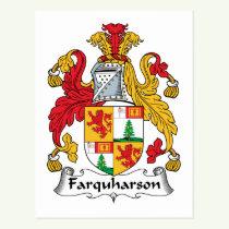 Farquharson Family Crest Postcard