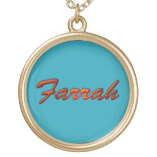FARRAH Name-Branded Gift Pendant Necklace