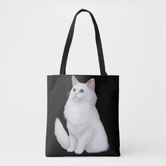 Farrah the White Persian Cat Tote Bag
