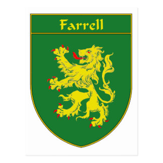 Farrell Coat of Arms/Family Crest Postcard