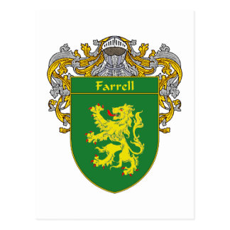 Farrell Coat of Arms (Mantled) Postcard