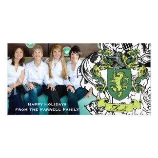 Farrell Family Crest Chritmas Holiday Photocard Photo Card