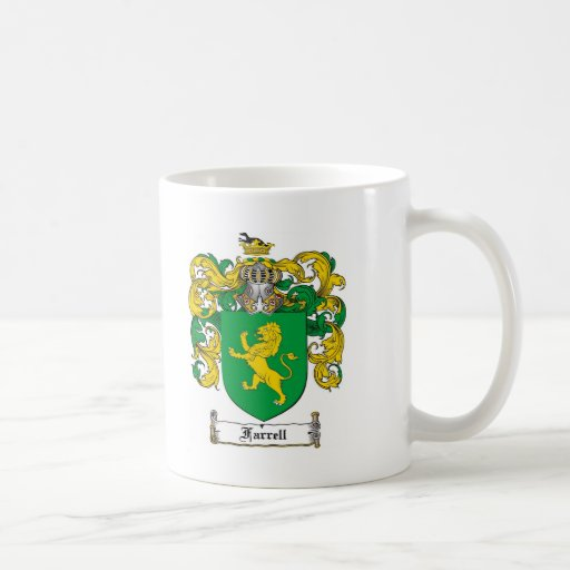 FARRELL FAMILY CREST -  FARRELL COAT OF ARMS COFFEE MUG