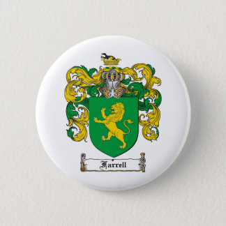 FARRELL FAMILY CREST -  FARRELL COAT OF ARMS PINBACK BUTTON