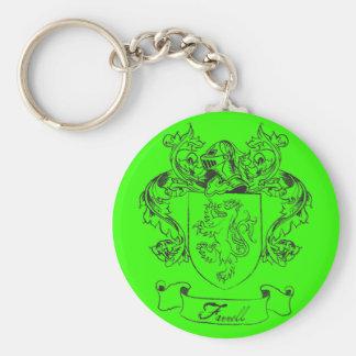 Farrell Family Crest Basic Round Button Keychain