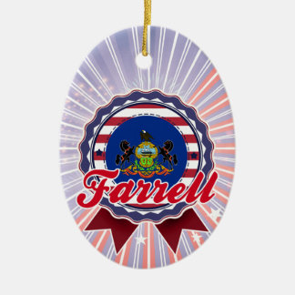 Farrell, PA Double-Sided Oval Ceramic Christmas Ornament