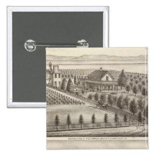 Farrelly, Mathews residences, farms 2 Inch Square Button