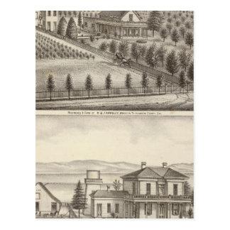 Farrelly, Mathews residences, farms Postcard