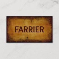 Farrier Antique Brushed Business Card