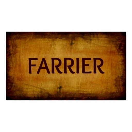 Farrier Antique Brushed Business Card