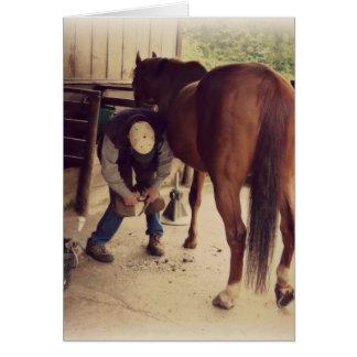 Farrier - Beautiful Horse Photo Hoof Trim Cards