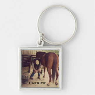 Farrier - Beautiful Horse Photo Hoof Trim Keychain