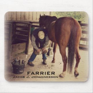 Farrier - Beautiful Horse Photo Hoof Trim Mouse Pad