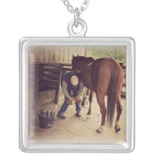 Farrier - Beautiful Horse Photo Hoof Trim Pendants