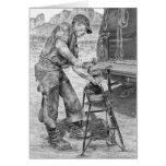 Farrier/Blacksmith Drawing by Kelli Swan Greeting Card