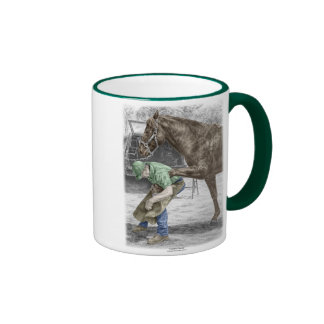 Farrier Blacksmith Shoeing Horse Coffee Mug