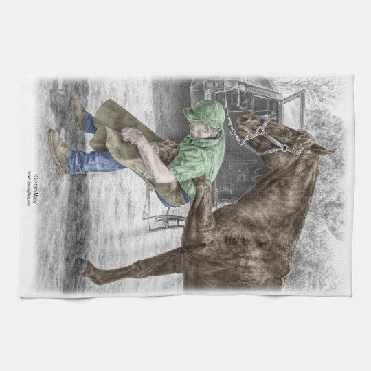 Farrier Blacksmith Shoeing Horse Hand Towel