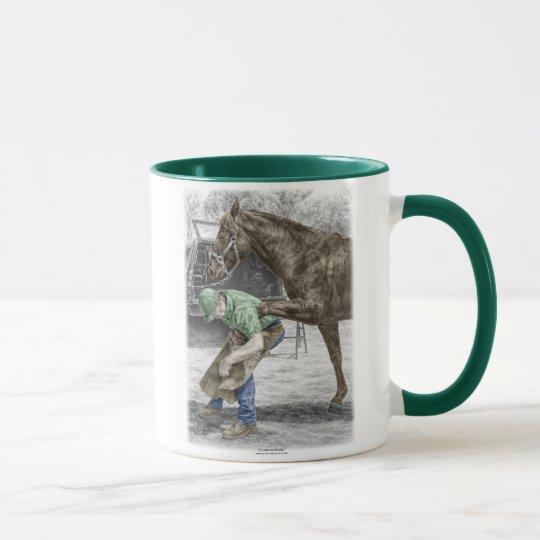Farrier Blacksmith Shoeing Horse Mug