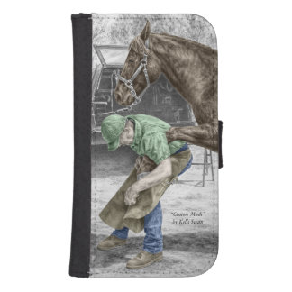 Farrier Blacksmith Shoeing Horse Wallet Phone Case For Samsung Galaxy S4