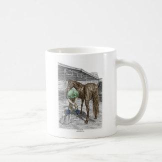 Farrier Blacksmith Trimming Horse Hoof Classic White Coffee Mug