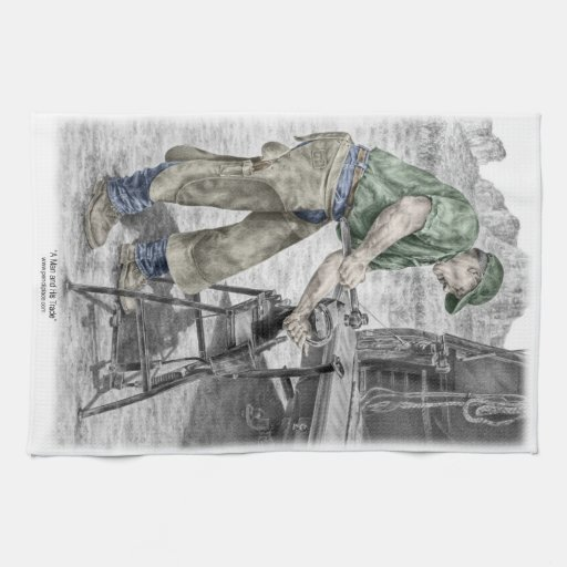 Farrier Blacksmith Using Anvil Hand Towel