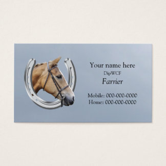Farrier business card