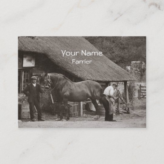 Farrier business card zazzle farrier business card colourmoves