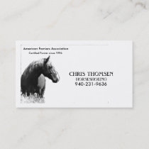 Farrier Card
