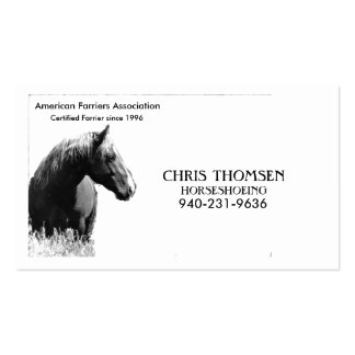 Farrier Card Double-Sided Standard Business Cards (Pack Of 100)