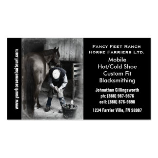 Farrier - Horseshoe Horse Hoof Services. Business Card