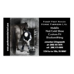 Farrier - Horseshoe Horse Hoof Services. Business Cards