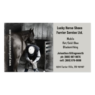 Farrier - Horseshoe Horse Hoof Services. Double-Sided Standard Business Cards (Pack Of 100)