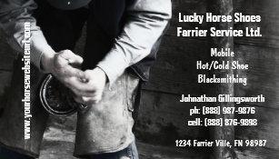 Horseshoeing business cards templates zazzle farrier horseshoe service business card colourmoves