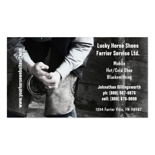 Farrier - Horseshoe Service Business Cards