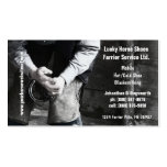 Farrier - Horseshoe Service Double-Sided Standard Business Cards (Pack Of 100)