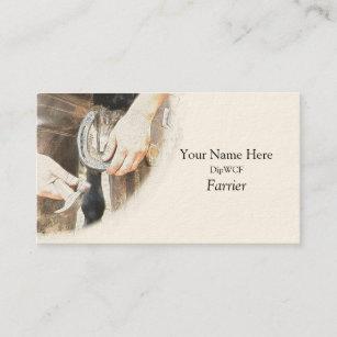 Farrier business cards templates zazzle farrier nailing a horseshoe business card colourmoves