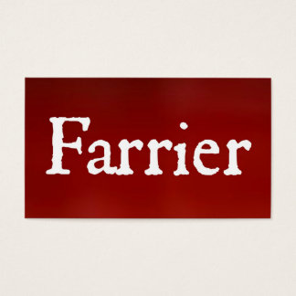 Farrier Red Business Card